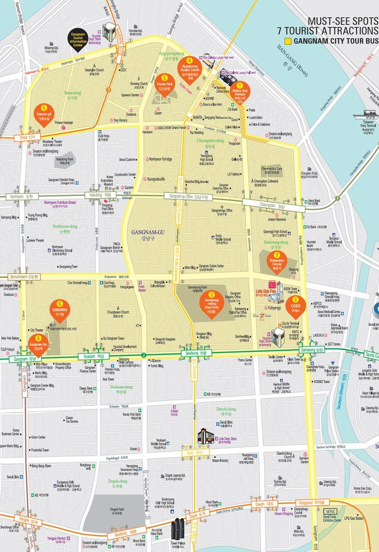 the rich & famous parts of Seoul. been to a few of these highlighted areas ... Gangnam (강남) & Apgujeong (압구정동) & K-Star Road (케이스타 로드), Seoul (서울), Korea (대한민국) || map via, official Gangam Tourist Information Center: http://tour.gangnam.go.kr/tour/hallyu-star-avenue/