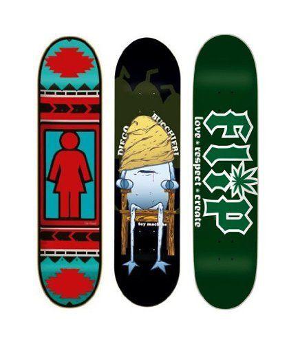 3 Toy Machine Girl Flip Skateboard Deck Lot By Graphic