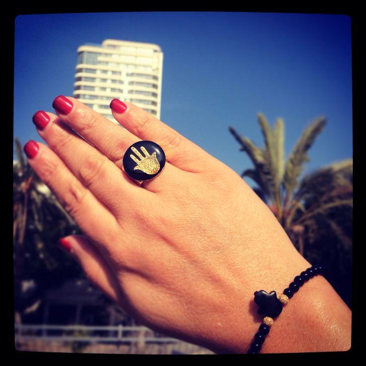 #hamsa hand #ring #danalevy #hamsa #gemstone #bracelet #tlv