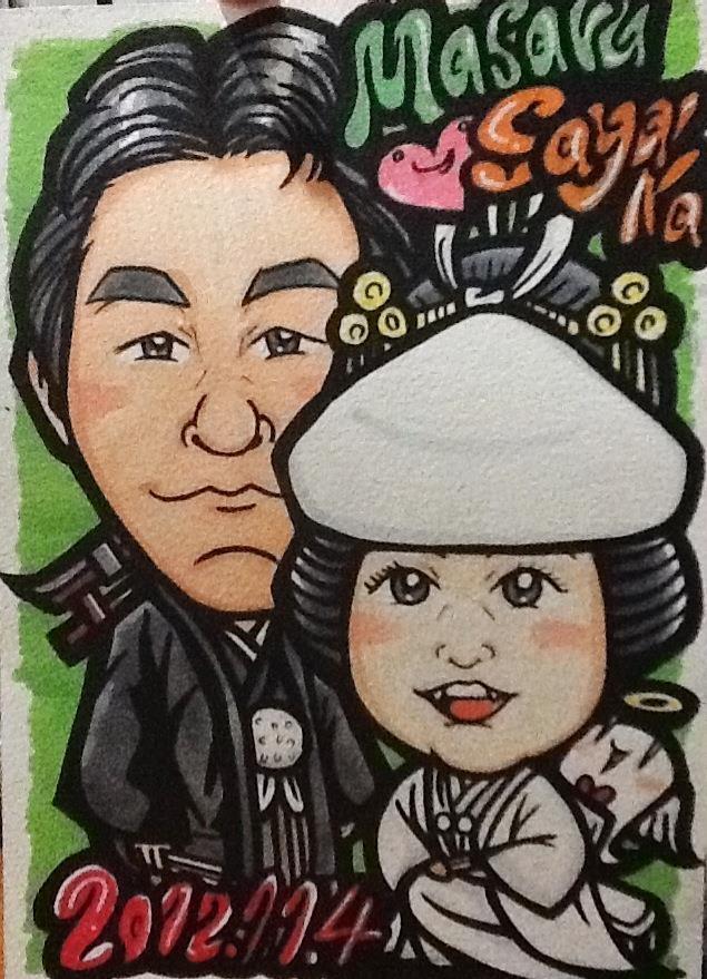 For Masaru & Sayaka in Japan / Hand Drawing Portrit A4 size - 手描き似顔絵 A4サイズ