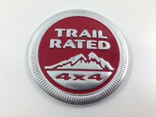 Trail Rated Emblem Jeep Emblems Trail Badge