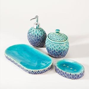 aqua coloured bathroom accessories. Peacock Bath Accessories  Bathroom Bed World Market i need these now Best 25 Teal bathroom accessories ideas on Pinterest