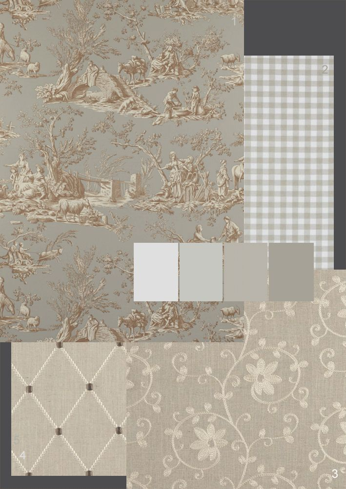 Romantic French Fabrics ~ Gorgeous Greys