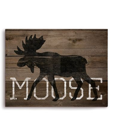 Another great find on #zulily! 'Moose' Silhouette Wall Art #zulilyfinds