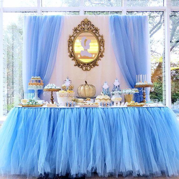 Cinderella Dessert Table Cinderella Party Decorations Princess Theme Party Cinderella Party