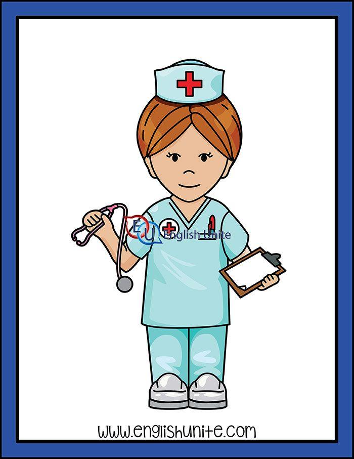 Worker Nurse English Unite Community Workers Community Helpers Nurse Community Art