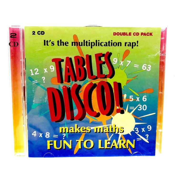 Times Table Disco! 2 x CD-It's the Multiplication rap-Make Maths Fun To Learn CD