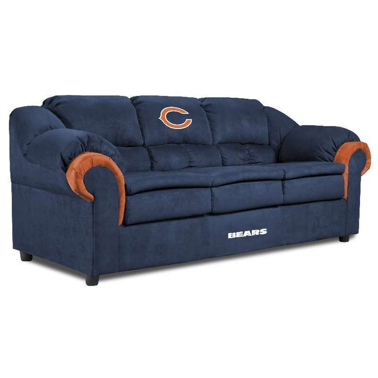 Lovely Chicago Bears Pub Sofas $749.00 #chicago #bears #nfl