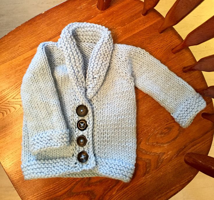 Toddler grandpa sweater - Dec. 2015