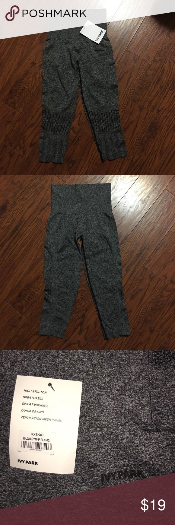 """Ivy Park Capri Leggings Brand new heather black Ivy Park Capri leggings. Size XXS/XS. They have a lot of stretch. Laying flat the waist measures 11"""" and inseam measures 18"""" Ivy Park Pants Leggings"""
