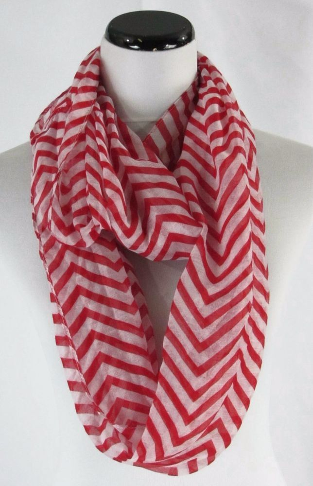 Infinity Cowl Scarf Red Chevron #Unbranded #CowlInfinity #careercasual