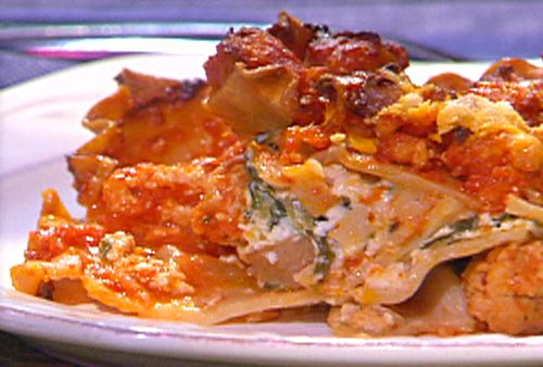 turkey and spinach lasagna yummm food recipes tv recipes lasagna ...