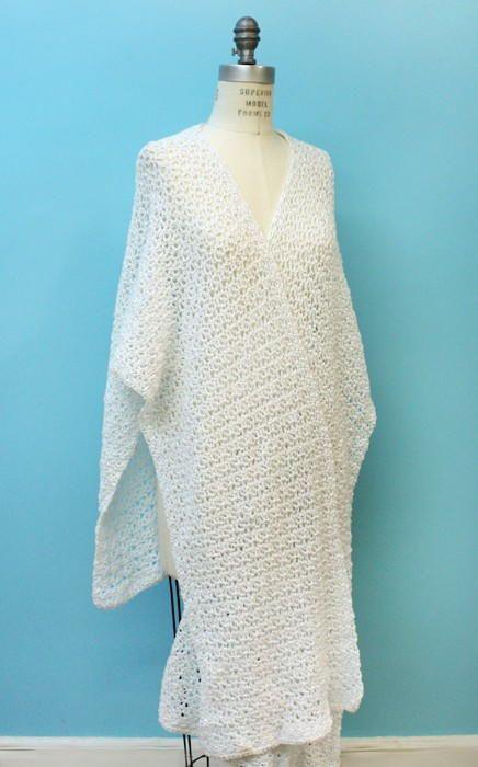 Glamorous Spring Crochet Ruana Pattern