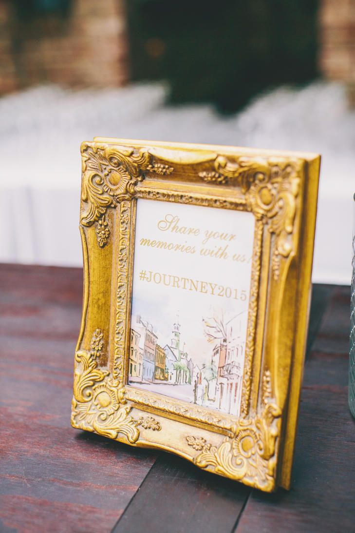 20 Creative Ways to Display Your Wedding Hashtag  | Photo by: Hyer Images  | TheKnot.com