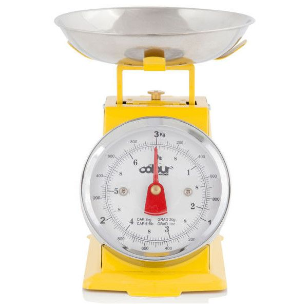 cook in colour 3kg mini traditional kitchen scales yellow 52 brl liked