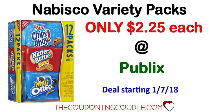 Nabisco Variety Packs ONLY $2.25 @ Publix starting 1/07/18 with sale and coupon coming next week. Don't miss out on this HOT sale starting next week.   Click the link below to get all of the details ► http://www.thecouponingcouple.com/nabisco-variety-packs-only-2-25-publix/ #Coupons #Couponing #CouponCommunity  Visit us at http://www.thecouponingcouple.com for more great posts!