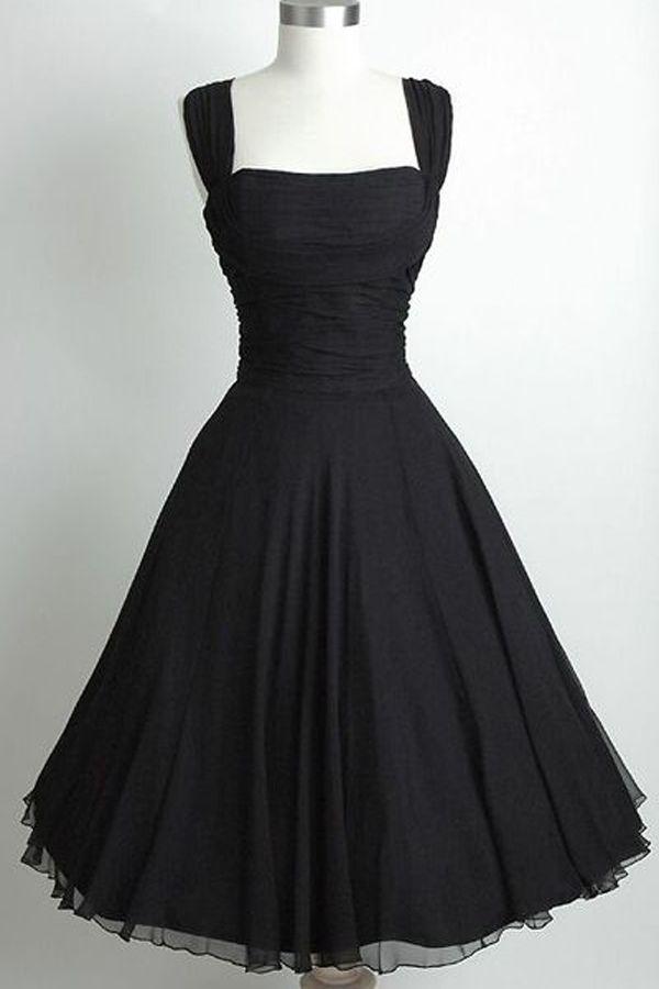 Retro Dress Black, Vintage Prom Dress, 2016 Homecoming
