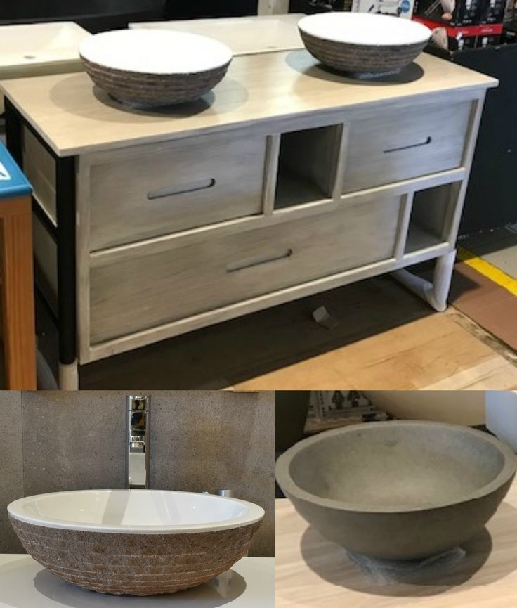 Add a feature to revive a dated bathroom design with these modern sinks and vanities!