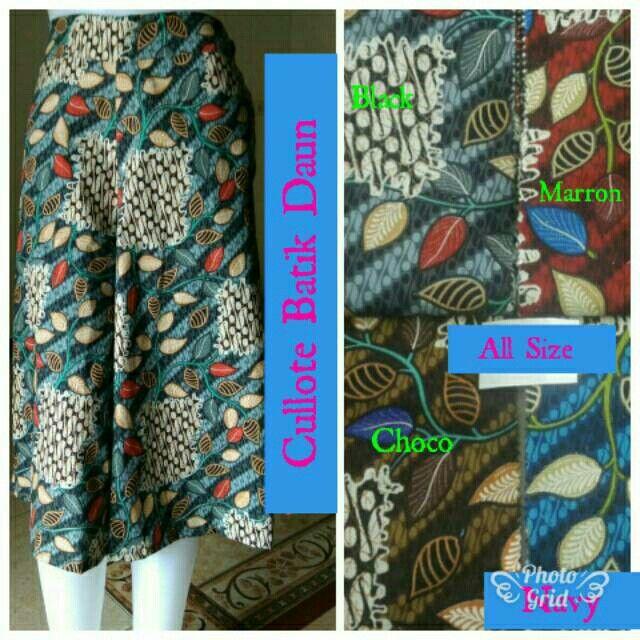 Saya menjual Cullote Batik Daun seharga Rp55.000. Dapatkan produk ini hanya di Shopee! https://shopee.co.id/hamzahnisa21/681243357 #ShopeeID