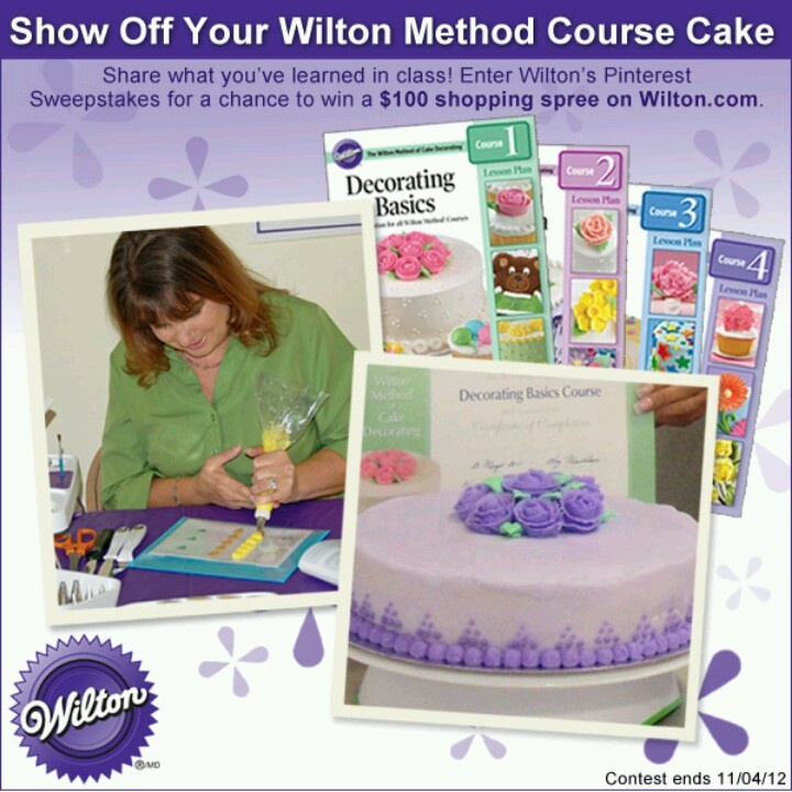 Wilton Cake Classes Hemet Ca : #Wiltoncontest My Wilton Method Class Cakes Pinterest