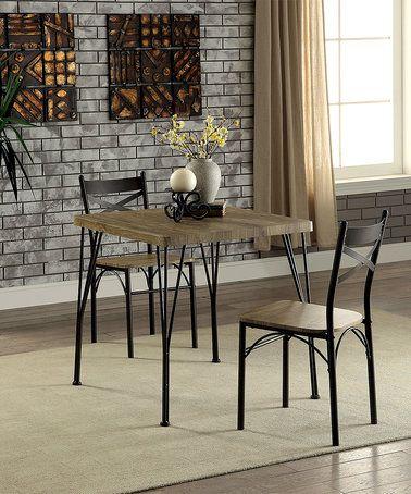 Look at this #zulilyfind! Gray & Dark Bronze Clinton Industrial Three-Piece Dining Set #zulilyfinds