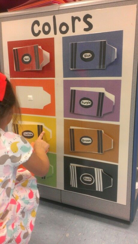 Colour matching board. Child height resource. Could make a shape and number board too :)