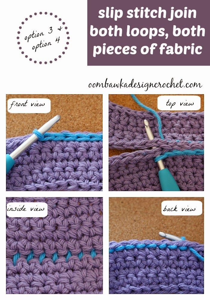 How to Join Two Pieces of Crocheted Fabric with a Slip Stitch Seam ✿Teresa Restegui http://www.pinterest.com/teretegui/✿