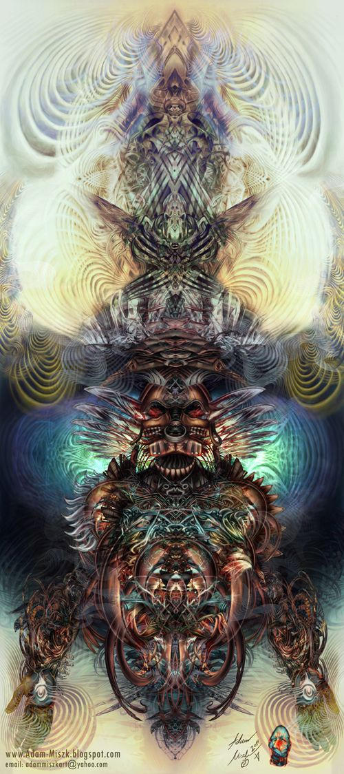 'Shaman' by Adam Miszk #visionaryart #art #digital #contemporaryart #dmt #illustration #fineart #scifi #digitalart #painting #horrorart #psychedelic