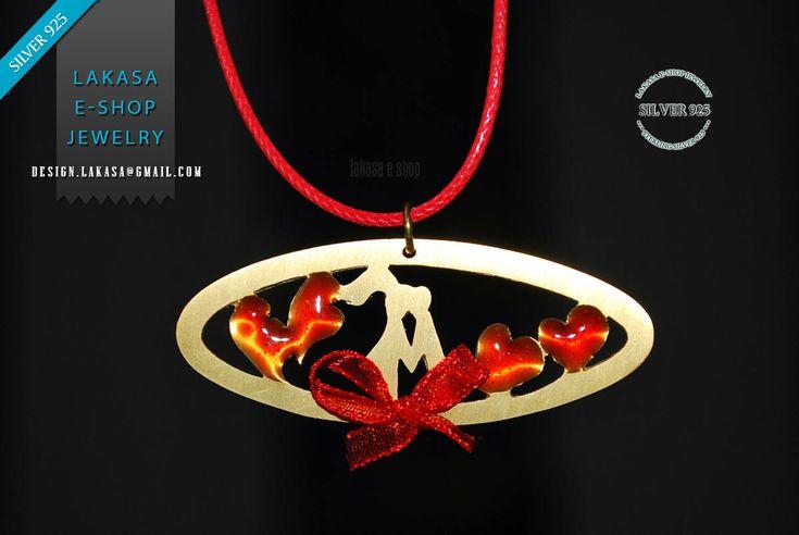Necklace Red Enamel Hearts Sweet Pareja Sterling Silver Handmade Jewelry Best Gift Idea Valentine's Day Anniversary Woman Love Girlfriend #freeshipping #free #shipping #worldwide #valentine #love #pareja #enamel #heart #jewelry #sterling #silver #handmade #jewellery #gift #joyas #goldplated #red #enamel #ribbon #καρδια #κοσμημα #ασημενιο #επιχρυσο #χειροποιητο #κολιε #δωρεαν #αντικαταβολη #μεταφορικα