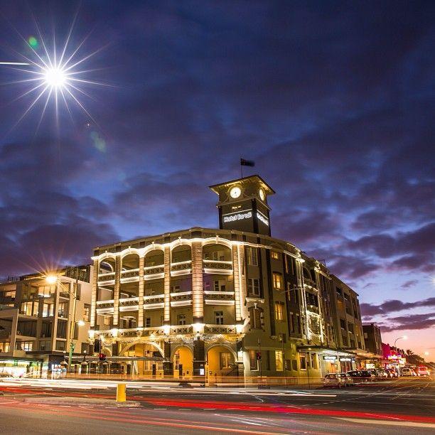 #hotelbondi #bondi #bondibeach #sunset #night  #sydney #lights #Padgram. Photo by Paul Amestoy.