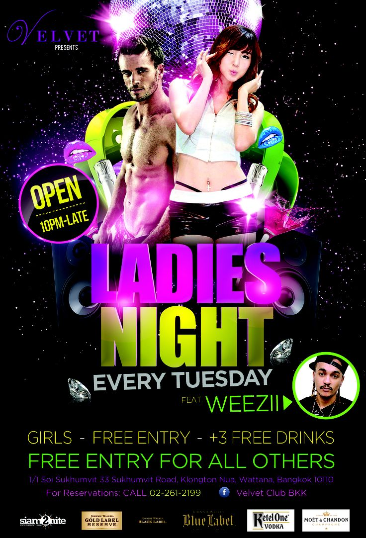 ladies night out club flyer - photo #4