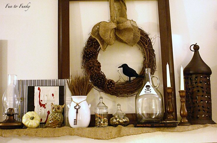 autumn/fall/halloween mantels.. many more within this post