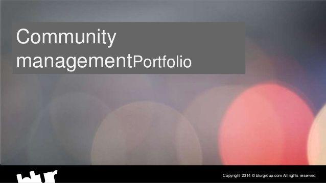 Community Management Portfolio