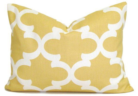 Yellow Lumbar Pillow Pale Yellow Pillow Yellow Pillow Cover For