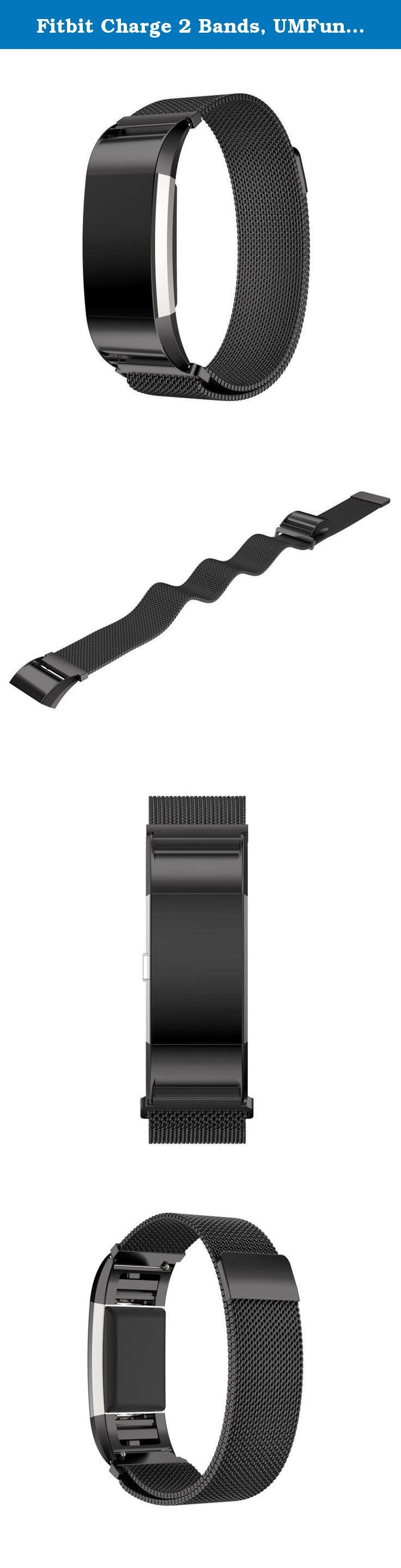 Fitbit Charge 2 Bands, UMFun Genuine Stainless Steel Bracelet Smart Watch Band Strap For Fitbit Charge 2 (Black). ☛: Package Include: ☛: 1pc Genuine Stainless Steel Bracelet Smart Watch Band Strap For Fitbit Charge 2 (without retail package).