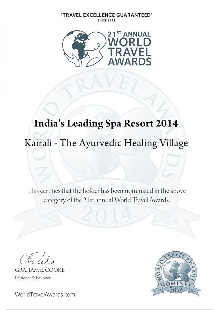Vote For Kairali – The Ayurvedic Healing Village. Kairali – The Ayurvedic Healing Village Kairali – The Ayurvedic Healing Village has been nominated for the 2014 World Travel Awards.