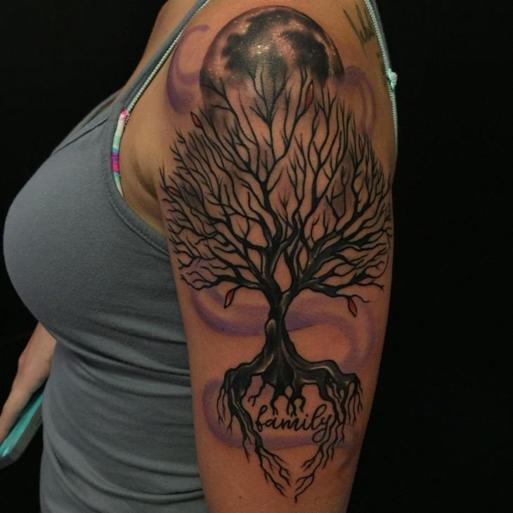 Family Tree Sleeve Tattoo