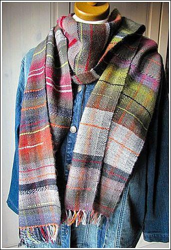 woven scarf via Ravelry