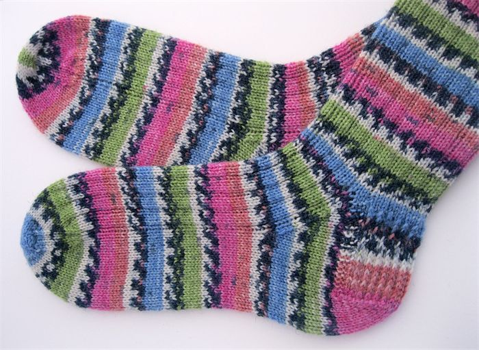 (sold) Handmade Socks, Handknit Socks, Womens S to M Size, hand knitted with Opal Yarn