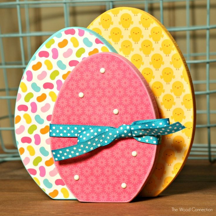 The Wood Connection - Stacking Eggs unfinished  $4.50 (complete yourself with paint and scrapbooking paper)