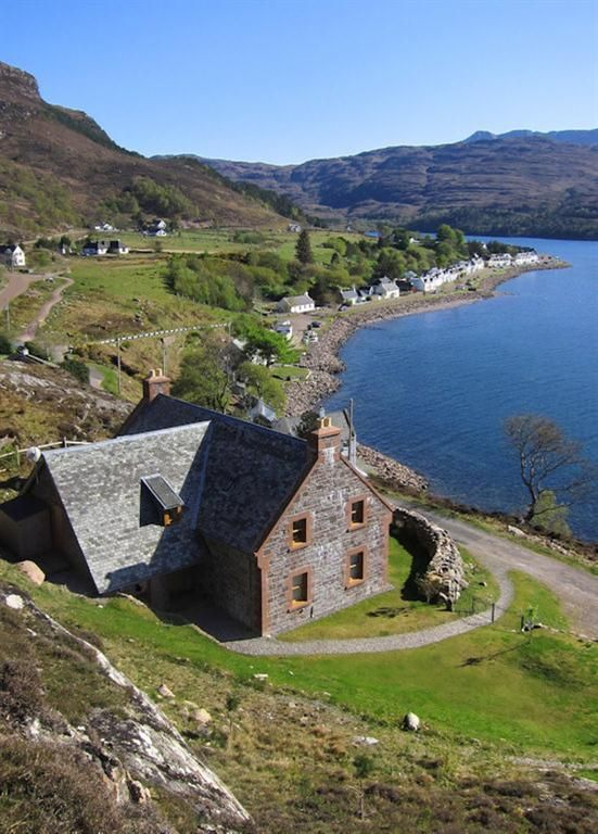 Holiday House in Shieldaig, Wester Ross, Scottish Highlands, Scotland