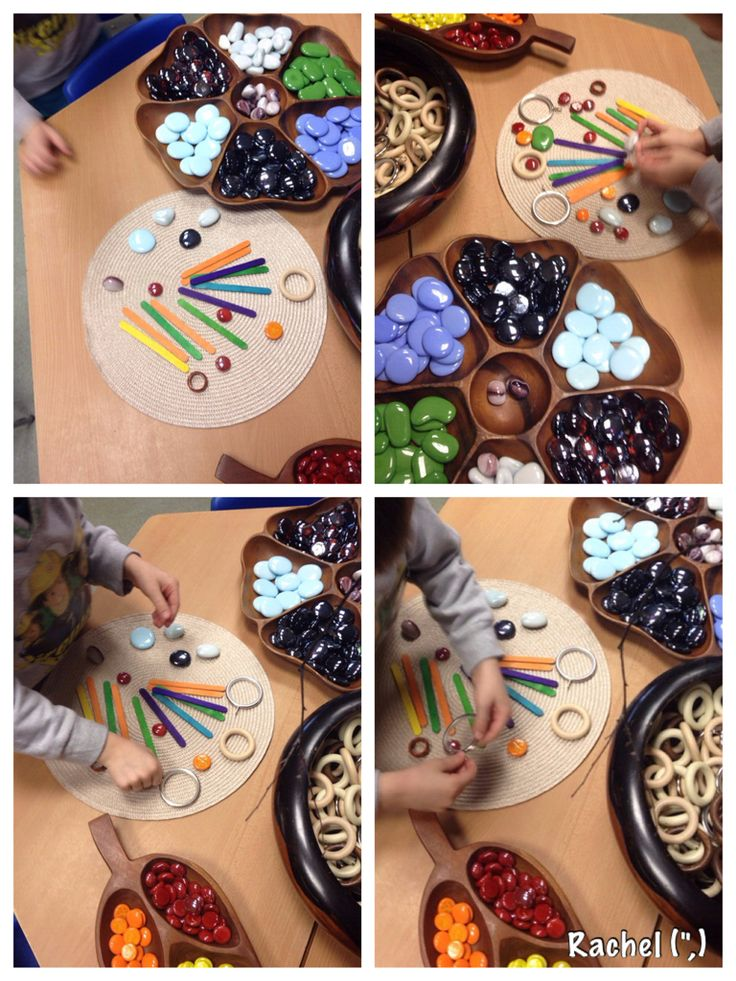 """Pattern Making with Loose Parts from Rachel ("""",)"""