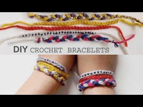 DIY: 3 Easy Crochet Friendship Bracelet Tutorials - YouTube