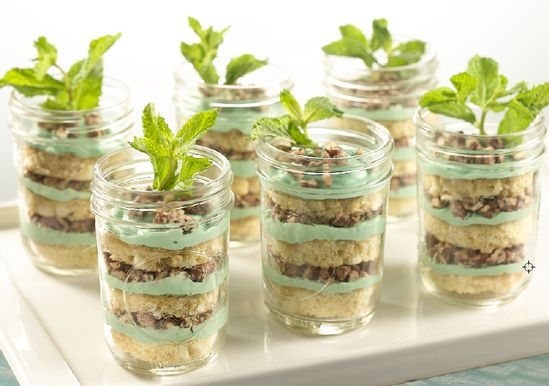 White Chocolate Mint Julep Trifle