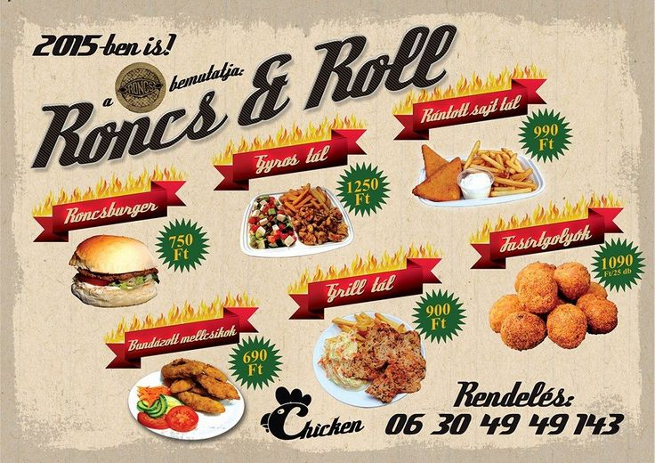 Roncs and Roll Chicken www.roncsbar.hu