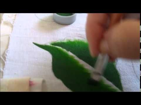 Treinando pintura de folhas -  Série Nível Iniciante igual ao meu - Graç...