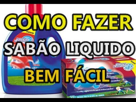 SABÃO LIQUIDO BEM FÁCIL DE FAZER - YouTube