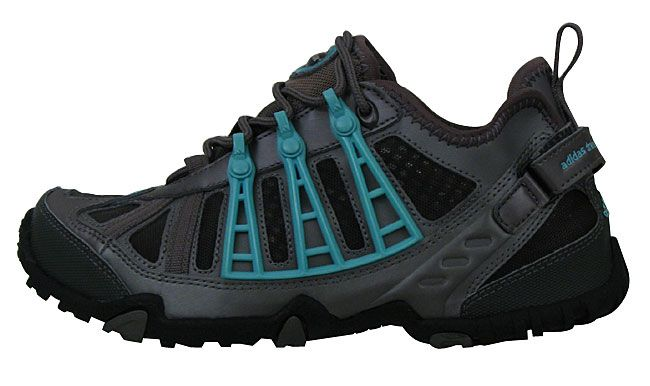 <br><li>Women's hiking shoes from Adidas perfect for treking through water on your hike<li>Shoes' synthetic leather upper provides lightweight and durability<li>Women's footwear provides air mesh lining for added comfort and breathability