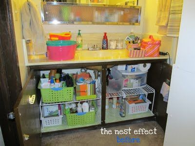 the nest effect project 4 organizing under the bathroom sink - Bathroom Organizers Under Sink