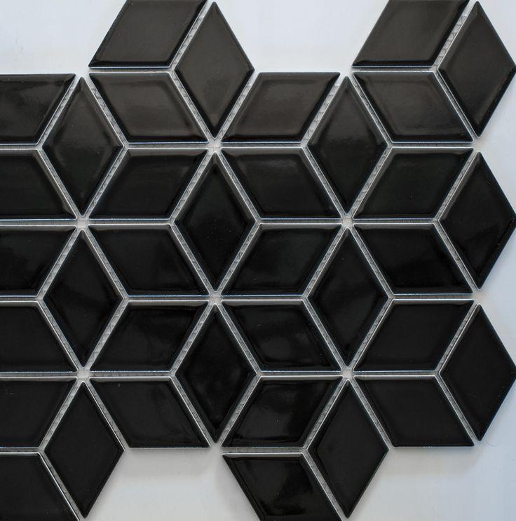 Diamonds With Black Granite White Marble Floor Inlay : Best diamond mm mosaics images on pinterest